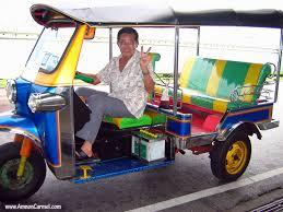 Thai tuk tuk driver